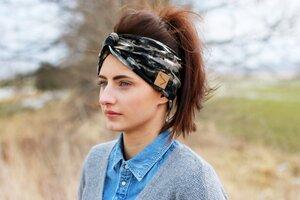 Stirnband im Turbanlook - Camouflage Jersey - dreisechzig