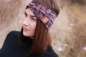Leichtes Stirnband im Turbanlook - RUBY DOTS - dreisechzig