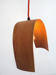 """Hängeleuchte """"swing"""" aus Holzfurnier - made by roswitha marien"""