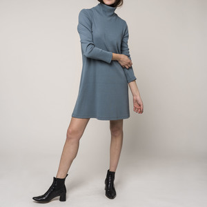 Kleid TOULOUSE RIB bluegrey  - JAN N JUNE