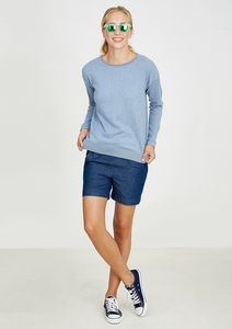 Crew Neck Knit hellblau - recolution