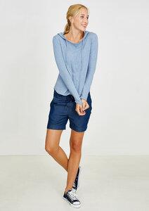 Knitted Hoodie hellblau - recolution