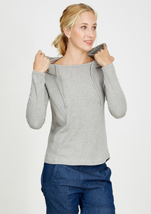 Knitted Hoodie grau - recolution