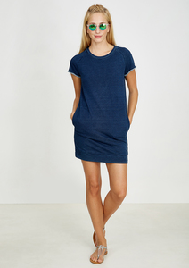 Kleid Sweatdress #INDIGO blau - recolution