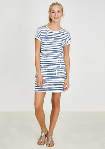 Kleid Shirtdress #STRIPES weiß blau gestreift - recolution