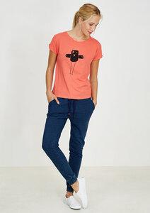 T-Shirt #BOBBIEQUEENIE coral - recolution