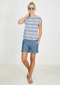 T-Shirt #STRIPES weiß grau gestreift - recolution