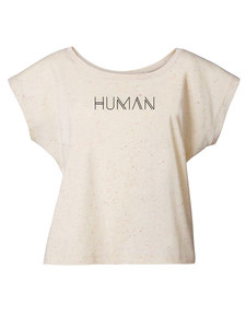 "Short Oversize T-Shirt ""Laid back -Human""  - Human Family"