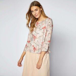 3/4-Arm Bluse Print Blossom Nude - Lanius