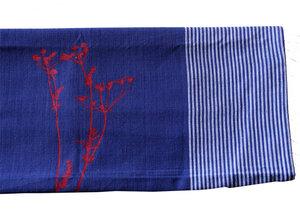 Fair-Trade-Geschirrtuch 'Wiesenkerbel' blau - Hirschkind