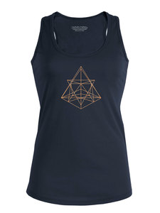 "Racerback Sommer Tanktop - Shine ""Geometry"" - weitere Farben - Human Family"
