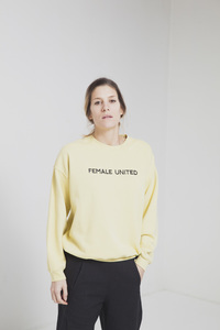 Female United Sweat - Yellow Raffia - thinking mu