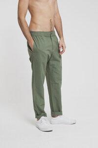 Green Travel Pant - Hedge Green - thinking mu