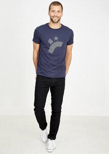T-Shirt #RETROLOGO navy blau - recolution
