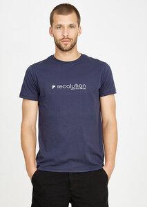 T-Shirt #ATTITUDE navy blau - recolution