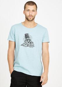 T-Shirt #CRAB grau blau - recolution
