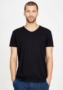 T-Shirt V-Neck schwarz - recolution