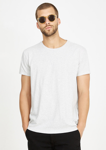 T-Shirt Casual weiß grau gestreift - recolution