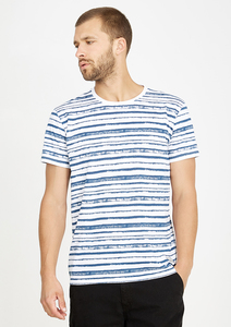 T-Shirt  #STRIPES weiß blau gestreift - recolution