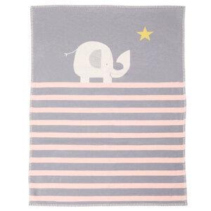 Babydecke 75 x 100, Elefant rosa - David Fussenegger