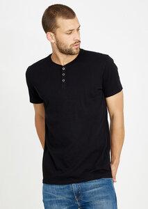 T-Shirt Henley schwarz - recolution