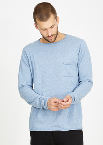 Strick Longsleeve #POCKET hellblau - recolution
