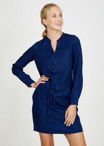 Tencel® Kleid denim blau - recolution