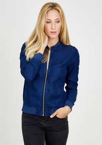 Tencel® Collegejacke denim blau - recolution