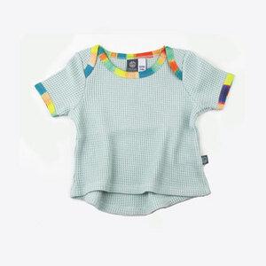 Bio T-Shirt / Baby / Waffeljersey / mint - Pünktchen Komma Strich
