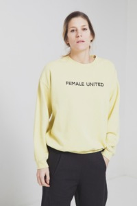 Female United Sweat - Yellow Raffia - thinking mu