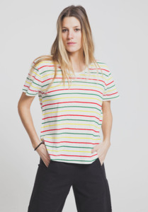 Jamaica Thin Stripes T-Shirt - Snow White - thinking mu