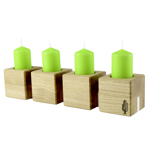 holzbutiq kerzenhalter kvar kerzenst nder aus holz. Black Bedroom Furniture Sets. Home Design Ideas