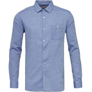 Structured Shirt GOTS - Strong Blue - KnowledgeCotton Apparel