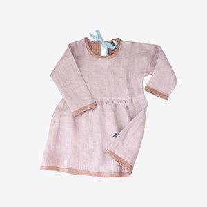 Leinenkleid rosa - Pünktchen Komma Strich