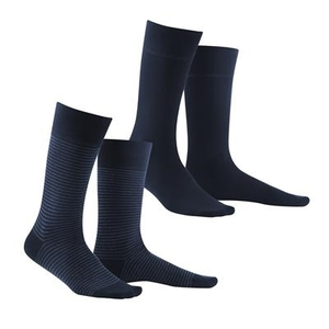 Living Crafts 2er Pack Socken Arni navy/indigo melange - Living Crafts