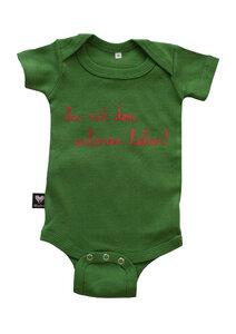 """Bio-Babybody kurzarm """"her mit dem schönen leben"""" grün - Hirschkind"""