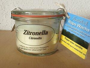 Rapswachskerze im Glas Zitronella - Kerzenfarm Hahn