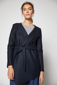 LANIUS - feminine Jacke aus reiner gewalkter Schurwolle - Lanius