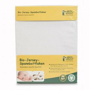 Bio - Jersey - Spannbettlaken weiß nachhaltig GOTS GRÜNSPECHT - GRÜNSPECHT Naturprodukte