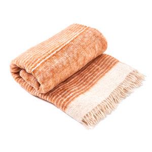 Decke Karamell 100% natürliche Schurwolle - Nata Y Limón