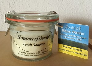 Rapswachskerze im Glas Sommerfrische - Kerzenfarm Hahn