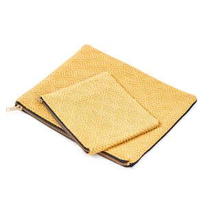 Kosmetiktasche Senf-Gold - Nata Y Limón