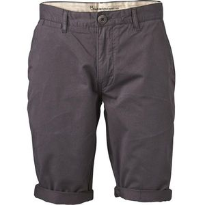 KnowledgeCotton Apparel Twisted Twill Shorts Phantom Anthrazit - KnowledgeCotton Apparel