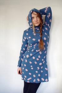 BIO Kleid - graublau - Punkte - æbletræ