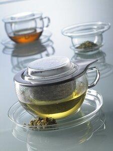 Teetasse TEA TIME - Edelstahl- oder Glasfilter mit Unterteller, 0,4 l - Trendglas Jena