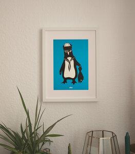 Pinguin Martin - Poster A4  - päfjes