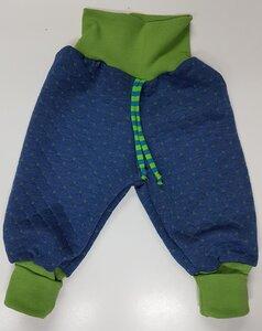 Stepphose wattiert Diamonds jeans-grün - Omilich