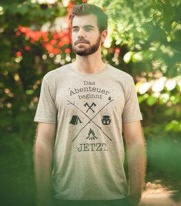 Das Abenteuer beginnt jetzt. - Fair Wear T-Shirt - Heather Clay - päfjes