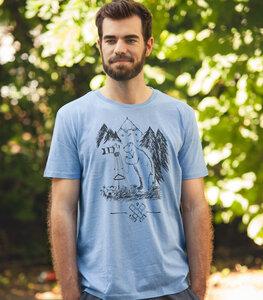 Bärnd Blitzbert - Fair Wear T-Shirt - Mid Heather Blue - päfjes