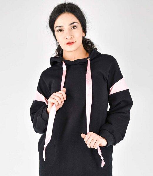 Fräulein Stachelbeere Langes Sweatshirt Kleid mit Kapuze